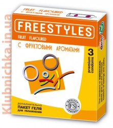 Freestyles Презервативы FREESTYLES FRUIT FLAVOURED 3 шт